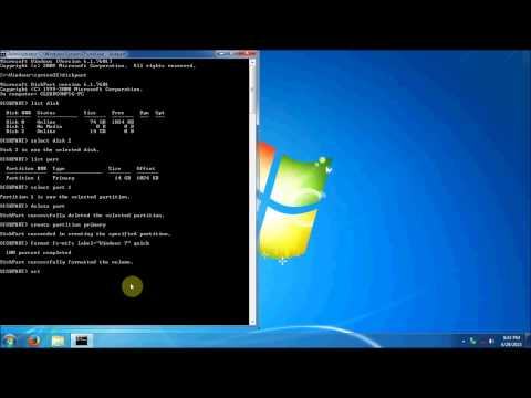 How to create a bootable USB flash drive.