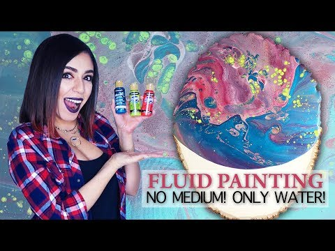 Fluid Acrylic Pouring Tutorial - NO MEDIUMS only WATER!