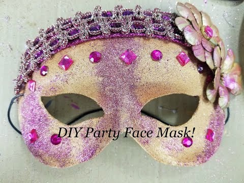 New! Craft Tutorial -How to make a party face mask! Diy