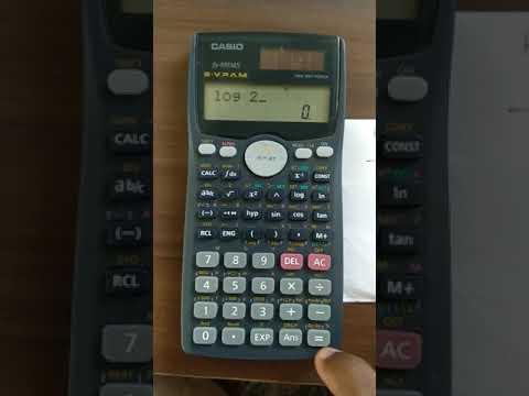 How to find antilog using fx991ms scientific calculator