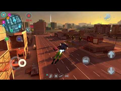 Flying with Jetpack in Gangstar Vegas and escaping the police