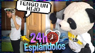 ¡NANDO TIENE UN HIJO! 24 HORAS ESPIANDO a mis AMIGOS de YOLO AVENTURAS - PANDA