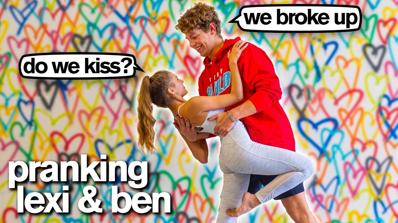 KISSING ex-BOYFRIEND PRANK *Bad Idea* (Lexi Rivera & Ben Azelart)