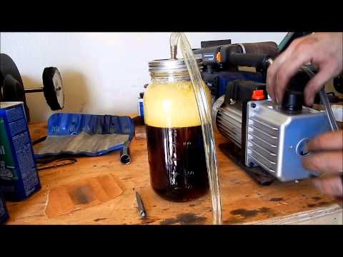DIY Home Made Vacuum Chamber.