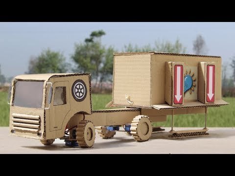 How To Make RC Container Truck With Cardboard ! Incredible Truck