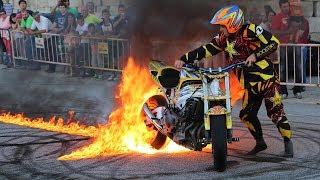 Paulo Martinho | Moto Freestyle | Quemando Rueda [Burnout] | [ Tire 1000 degree ] | BOTICAS