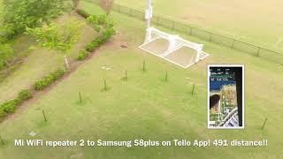Dji Ryze Tello Extending WiFi Range MI WiFi Repeater 2 On