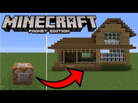 Minecraft PE - How To Spawn Houses With Commands! (1.2.0) No Mods, No Addons!