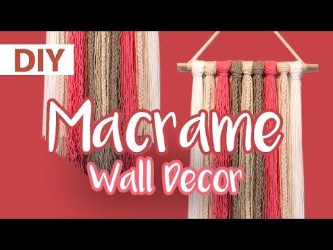 DIY Yarn Macramé Wall Decor | ArtsyPaints