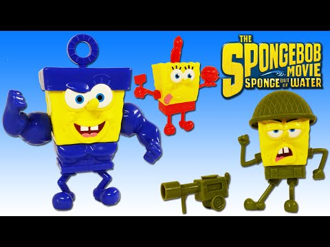 SPONGEBOB SQUAREPANTS SPONGE OUT OF WATER MOVIE TOY POP A PART ACTION FIGURE PLAYSET