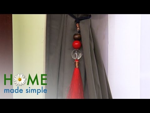 Add Instant Flair with Indian Inspired Curtain Tie Backs | Home Made Simple | Oprah Winfrey Network