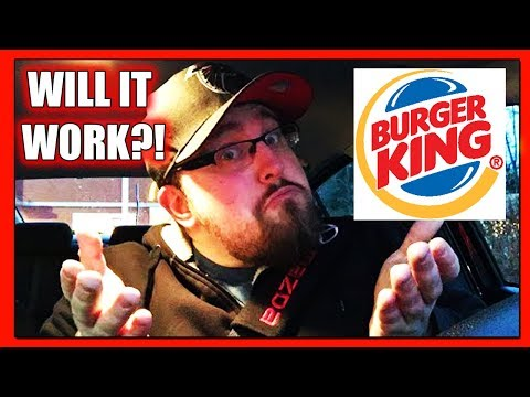 The Burger King Drive Thru - Different Location First Time