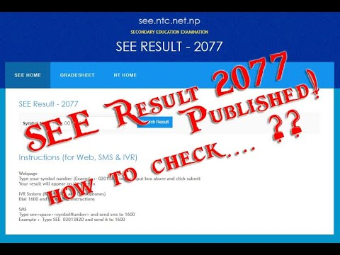How to check SEE (SLC) result 2073/074 With Grade Sheet - Almost all ways given with quick links.