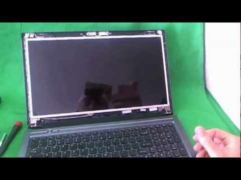Lenovo IdeaPad V570 Laptop Screen Replacement Procedure