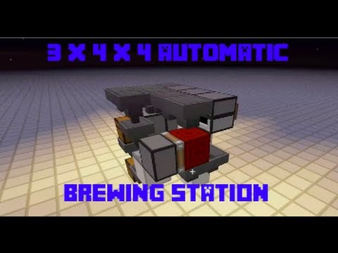 3x4x4 Fully Automatic Brewing Station - Minecraft 1.7.2