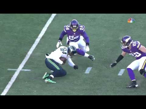 Baldwin Amazing One-Handed Catch! | Seahawks vs. Vikings | 2015 NFC Wild Card Highlights