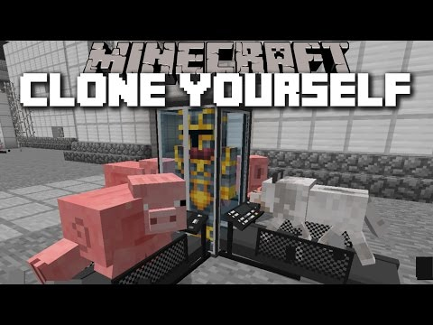 Minecraft CLONE YOURSELF MOD / CREATE AN ARMY TO CLONES AND FIGHT MOBS!! Minecraft