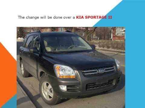 How to replace the air cabin filter   dust pollen filter on a Kia Sportage
