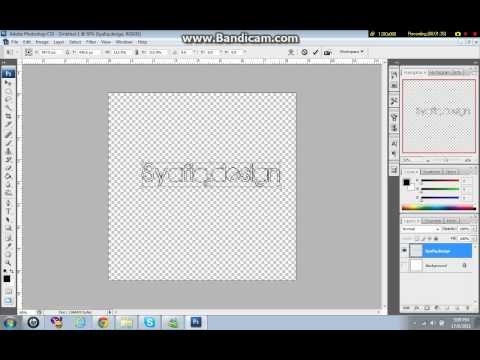 Tutorial:How to create logo/watermark brush in your Photoshop CS3