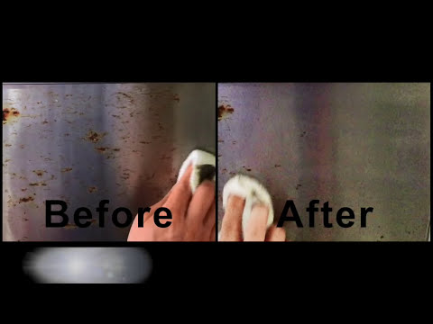 How to remove rust on stainless steel