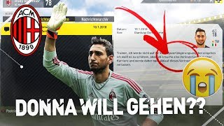 SCHOCK!! MUSS DONNARUMMA VERKAUFT WERDEN??! FIFA 17 AC Mailand Karrieremodus #27