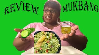 REVIEW WHOLLY GUACAMOLE DIP WITH CRACKERS MUKBANG