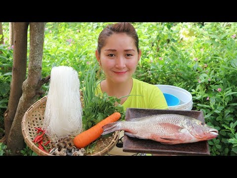 Yummy Fish Steaming With Glass Noodle Recipe - Fish Steaming With Glass Noodle - Village Food