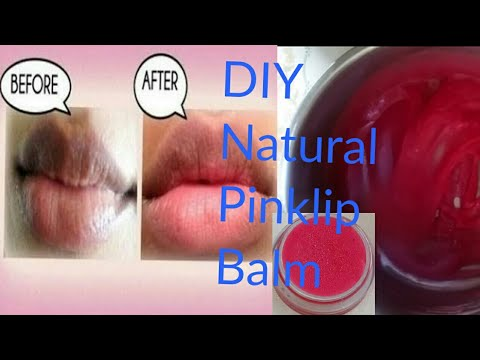 DIY Natural Pink Lip Balm : Get Amazing soft pink lips with this balm.