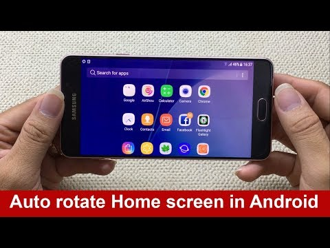 How to auto rotate home screen in any Android device