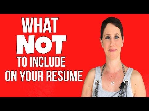 THREE THINGS TO TAKE OFF YOUR RESUME | Debra Wheatman