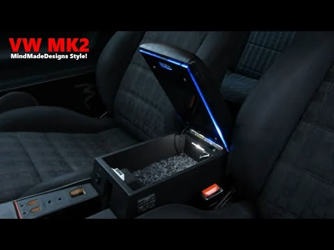 How to Build a Car Custom Center Console Armrest Storage Box MDF Designs for a car ✔ MMD