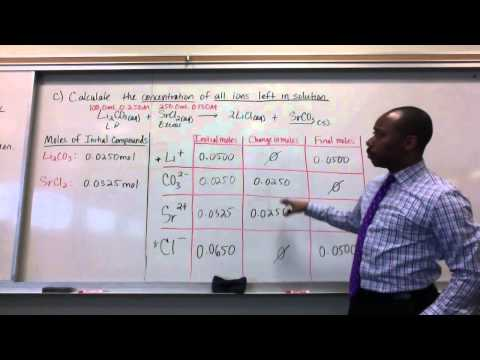 Solution Stoichiometry Part 2: Concentration of Ions in Solution