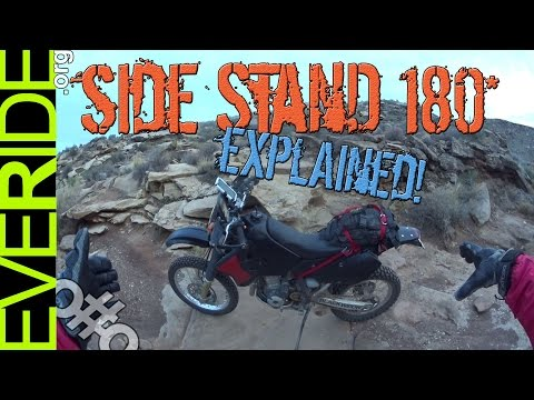 EASY Side Stand 180 U-Turn for Any ADV or Dual Sport Motorcycle - eveRide Quick Tips o#o