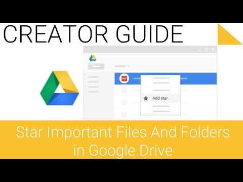 Star important files and folders with Google Drive on the Web - 4.3 - Google Drive