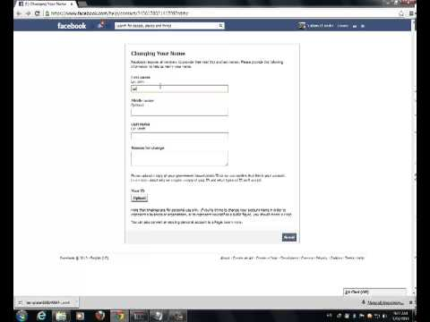 Lesson 3 How To Change Your Facebook Name After The Limit !