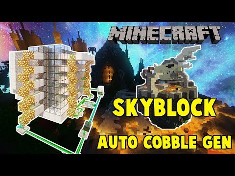 How To Build The MOST OP Automatic CobbleStone Generator (SkyBlock)