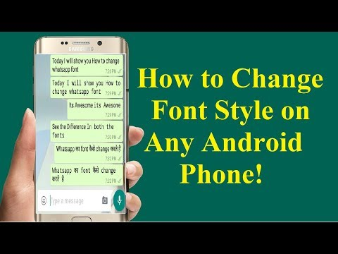 How to Change Font Style on Any Android Phone!