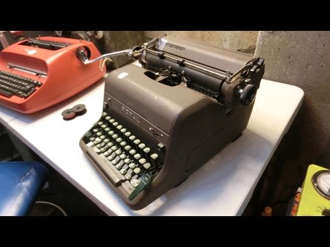 worn-out 1950s Royal HH typewriter, lubricating mechanism and replace ribbon