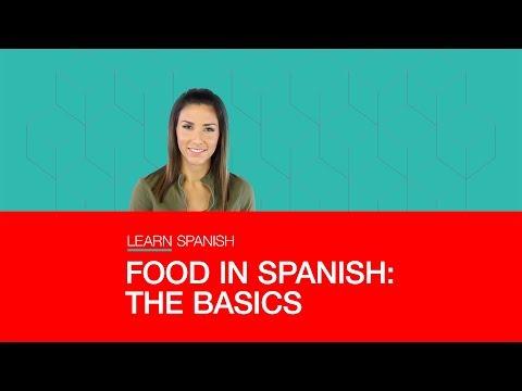 FOOD IN SPANISH: THE BASICS