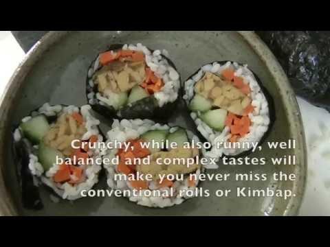 Vegan, low carb rolls (Kimbap)/저탄수화물 채식 김밥