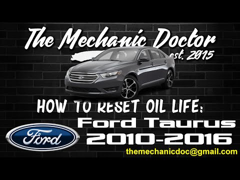 How to Reset Oil Light: Ford Taurus 2010, 2011, 2012, 2013, 2014, 2015, 2016.