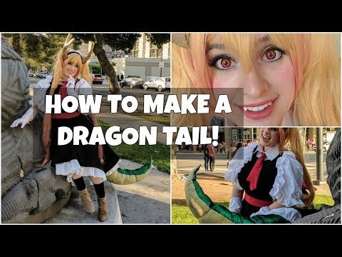 Cosplay Dragon Tail Tutorial: Tohru from Miss Kobayashi's Dragon Maid
