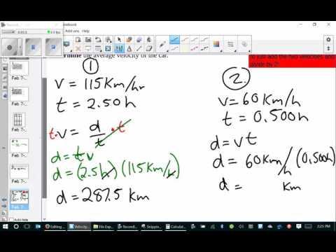 average velocity multiple velocities