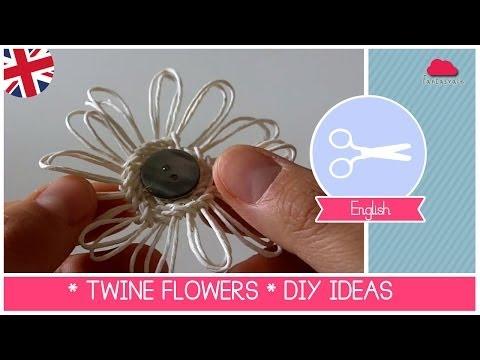 DIY FLOWER LOOM -TWINE FLOWERS Tutorial by Fantasvale (Super EASY!)
