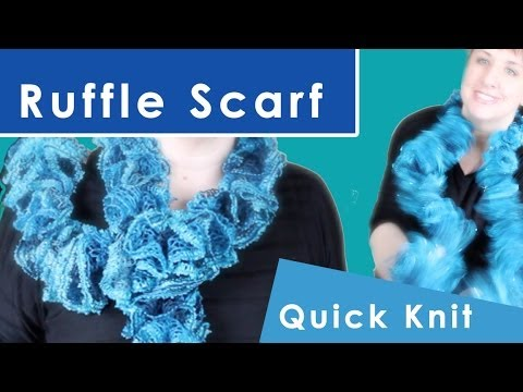 How to Knit a Ruffle Scarf | Winter Fashion Knits