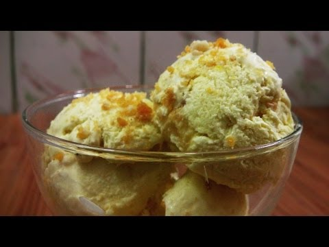 Butterscotch Ice Cream Recipe - Low Fat Ice creams   Without Ice Cream Maker