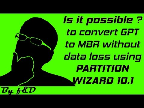How to convert GPT to MBR (or) MBR to GPT without any data loss using Minitool Partition Wizard 10.1