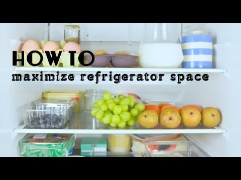 How to maximize refrigerator space