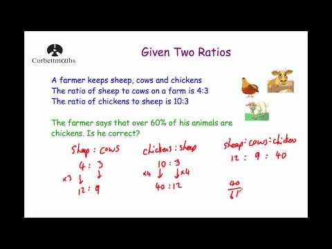 Given Two Ratios - Corbettmaths