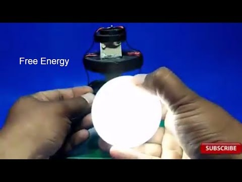 make free energy with 4 magnets and copper wire output 12-volt dc light bulb 2018